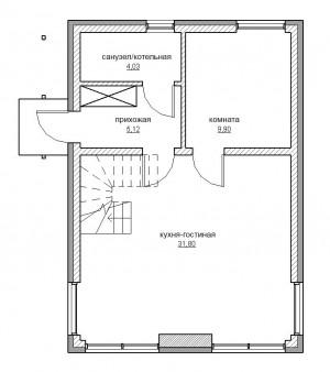 Схема проекта 2 этаж